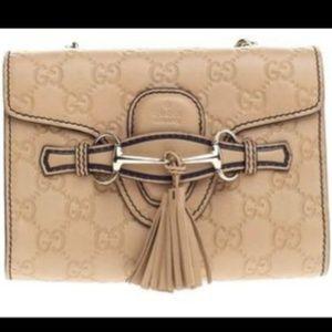 GUCCI Emily Mini Guccissima Leather Crossbody Bag